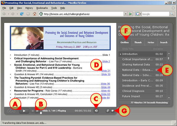 Screenshot of a Presenter Presentation in a Browser Window