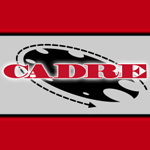 CADRE logo: a clockwork circle with smaller circles cut out of it.