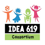 Consortium of State IDEA 619 Coordinators logo, the logo depicts four cartoon children in various colors