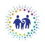 ITCA logo, two adult figures hold hands with a child figure