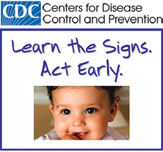Logo: CDC (Centers for Disease Control and Prevention): Learn the Signs. Act Early.