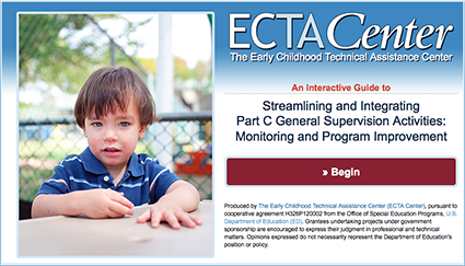 Thumbnail: Streamlining and Integrating Part C General Supervision Activities: Monitoring and Program Improvement Guide